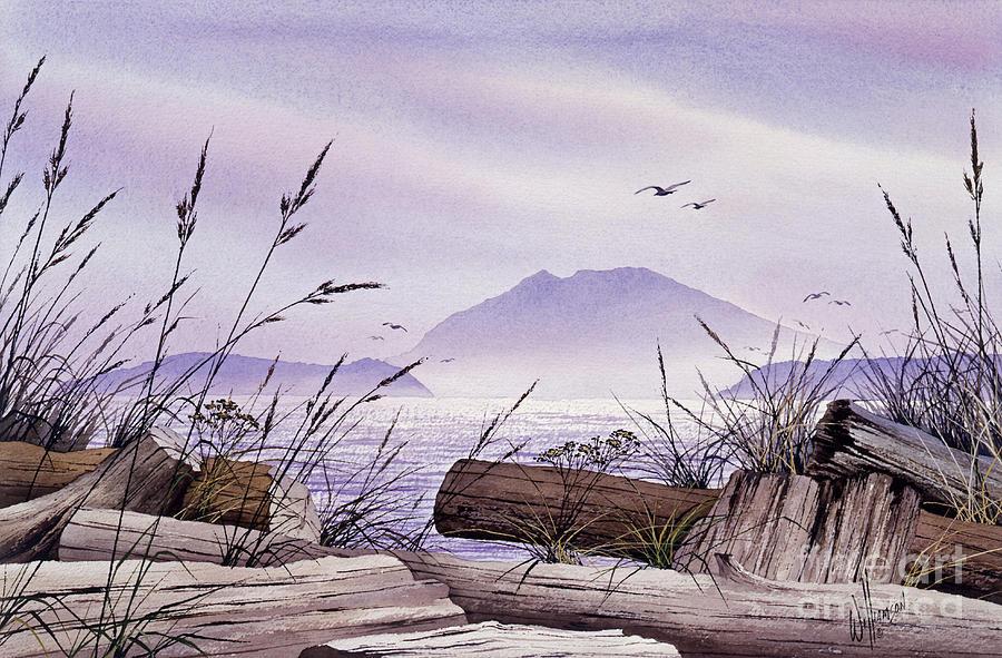 Landscape Fine Art Print Painting - Island Splendor by James Williamson