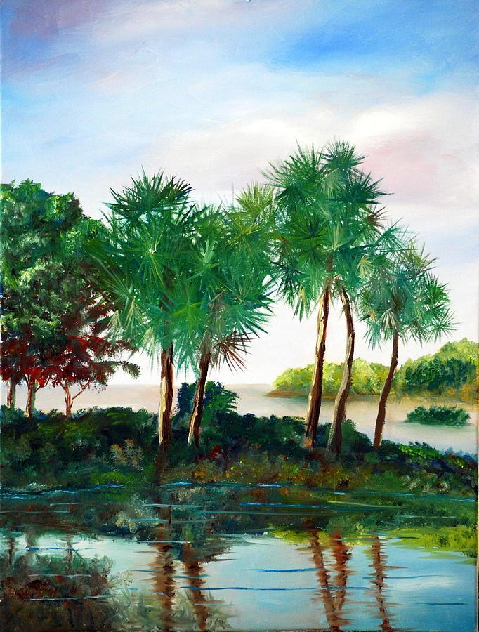 Palms Painting - Isle Of Palms by Phil Burton
