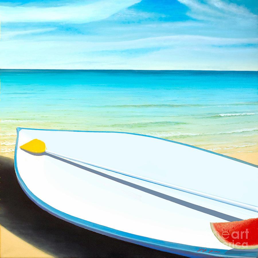 Summer Painting - Israeli Summer by Miki Karni