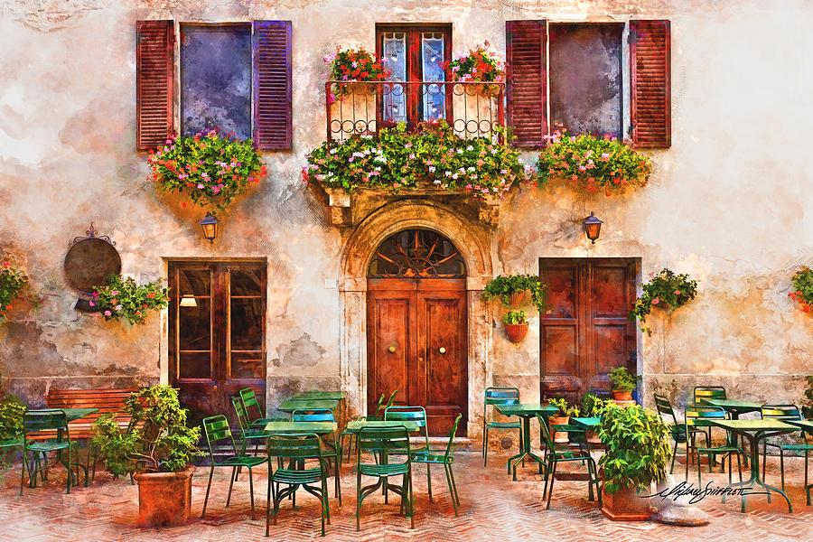 Italian Cafe Painting By Michael Shifflett