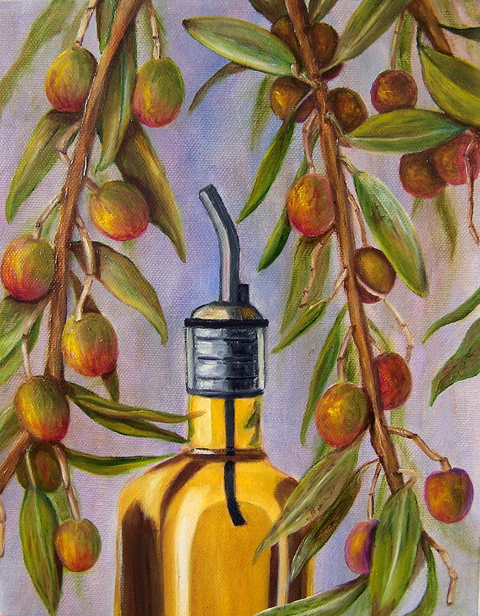 Olives Painting - Italian Delight by Susan Dehlinger