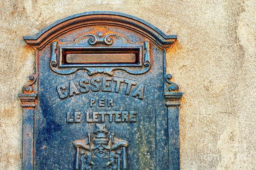 Mailbox Photograph - Italian Mailbox by Silvia Ganora