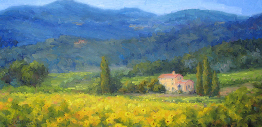 Italy Painting - Italian Sunflowers by Bunny Oliver