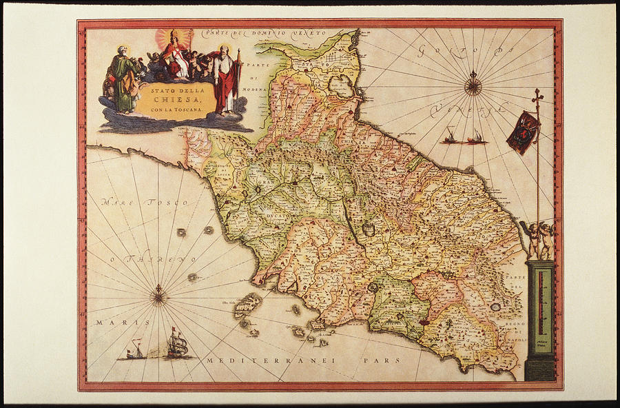Italy, Vatican Church State,  Tuscany, Elba Island, And Marche Region Digital Art