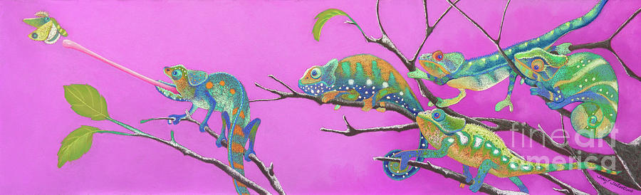 Chameleon Pastel - Its All Just An Illusion by Tracy L Teeter