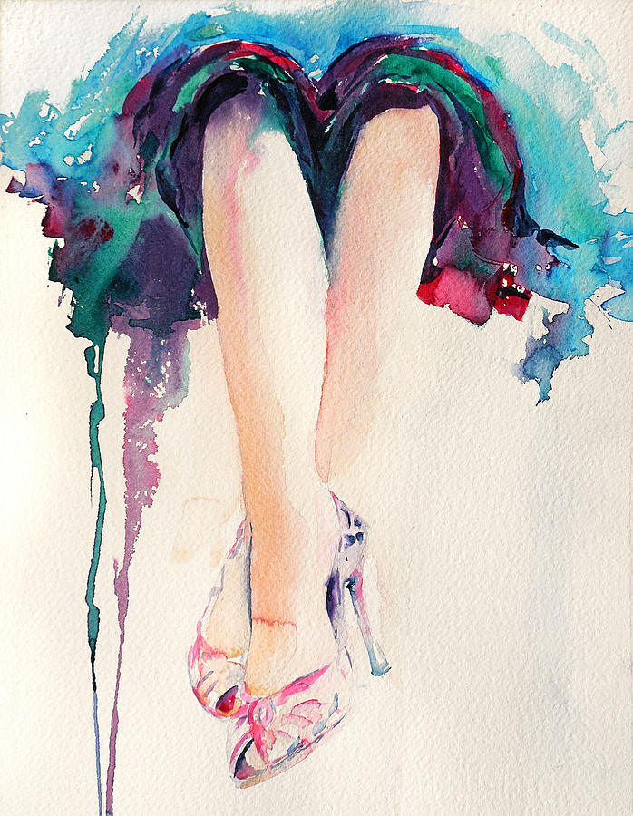 Legs Painting - Its Party Time by Stephie Butler
