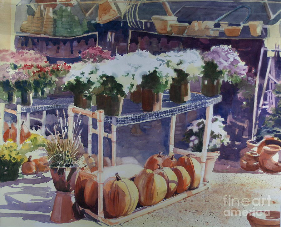 Gardenscape Painting - Ivy Corners by Elizabeth Carr