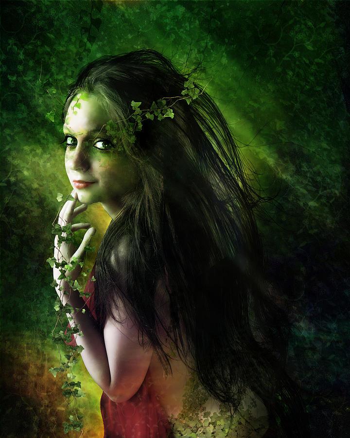 Woman Digital Art - Ivy by Mary Hood