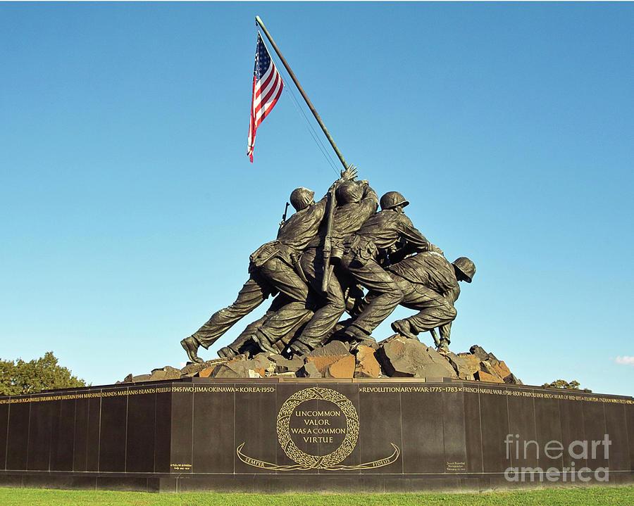 Iwo Jima Marine Corps War Memorial Washington Dc Arlington Virginia Photograph