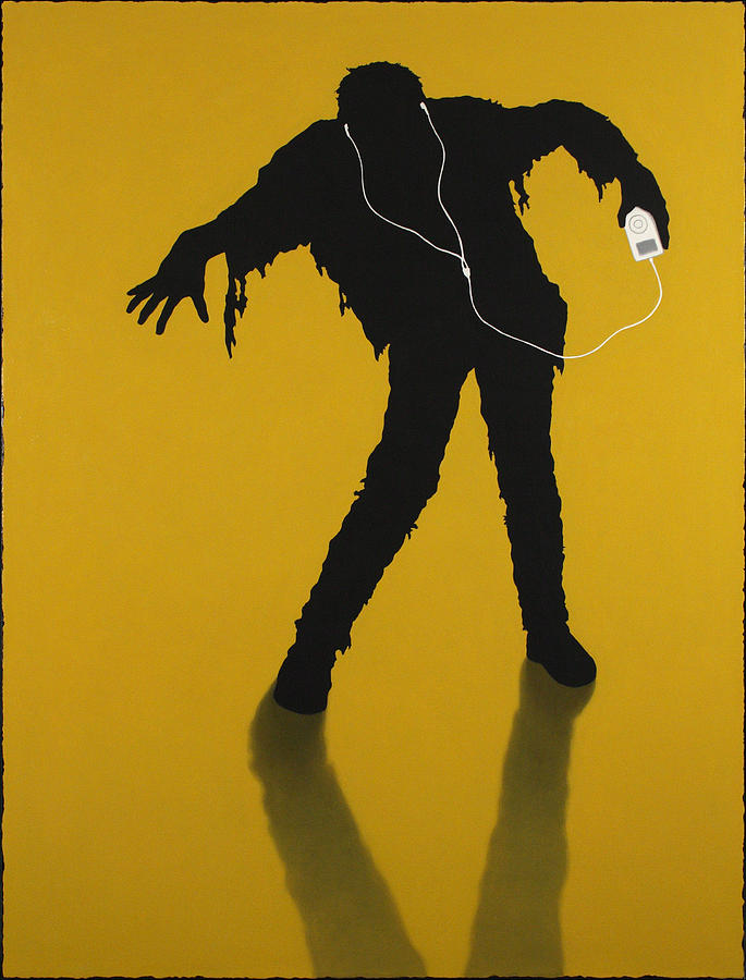 Ipod Painting - iZombie by James W Johnson