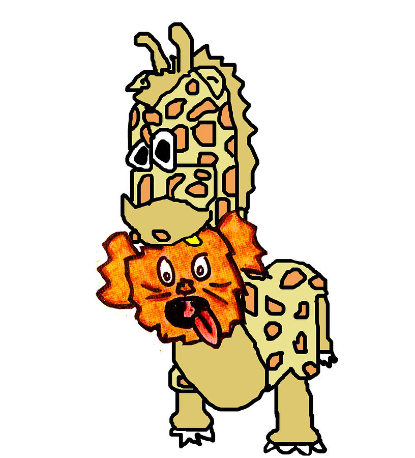Izzy As Giraffe Digital Art