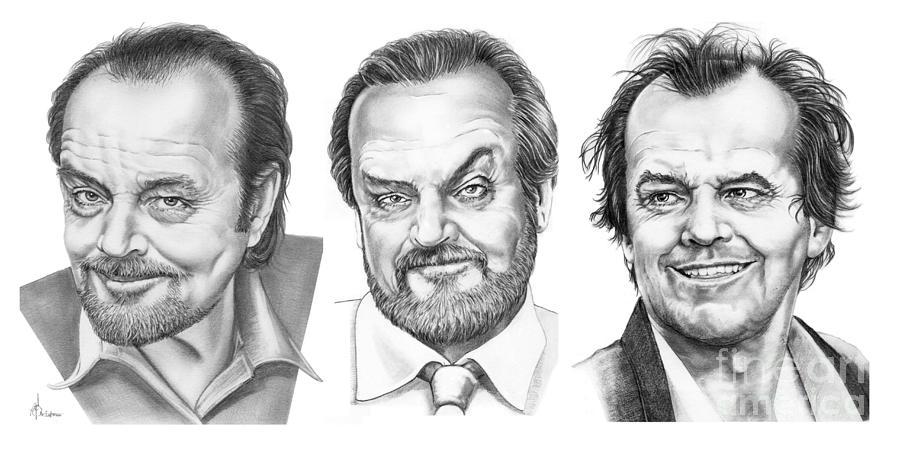 Drawing Drawing - Jack Jack Jack Nickolson by Murphy Elliott