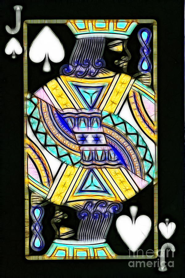 Card Photograph - Jack Of Spades - V2 by Wingsdomain Art and Photography