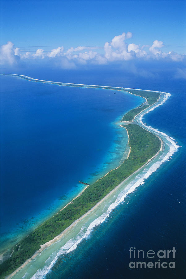 Aerial Photograph - Jaluit Atoll And Lagoon by Greg Vaughn - Printscapes