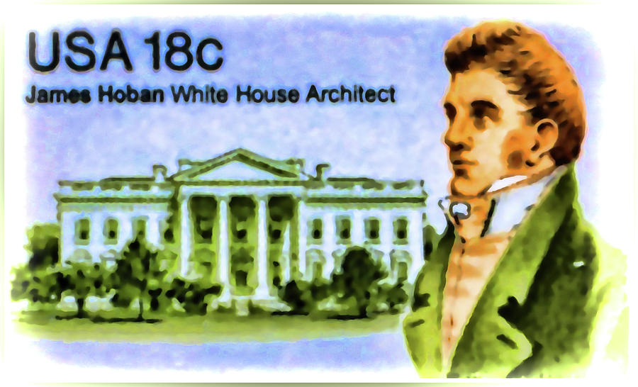 James Hoban White House Architect Painting By Lanjee Chee