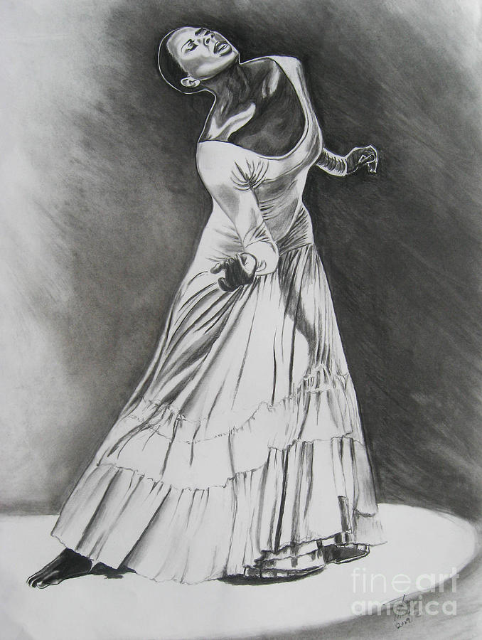 Charcoal Painting Drawing - Jamison by Toni  Thorne