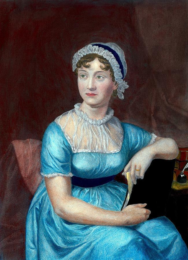 History Photograph - Jane Austen 1775-1817 English Novelist by Everett