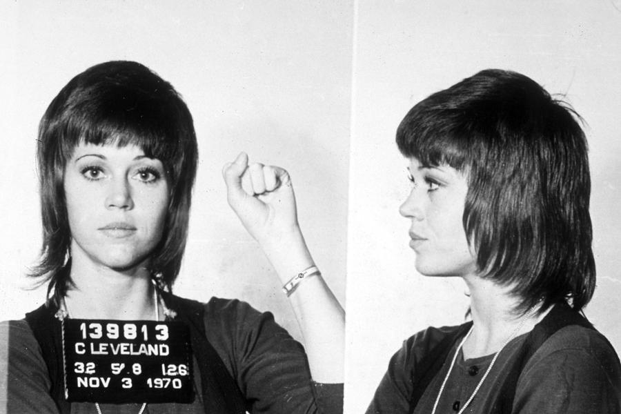 Jane Fonda Mug Shot Horizontal Painting