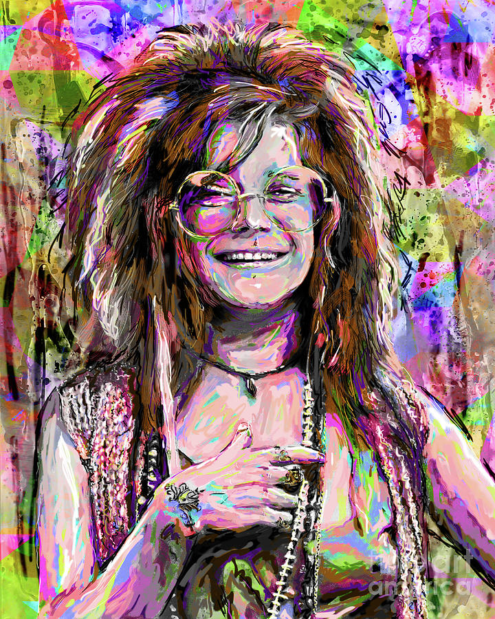 Janis joplin art mixed media by ryan rock artist for Where to buy fine art