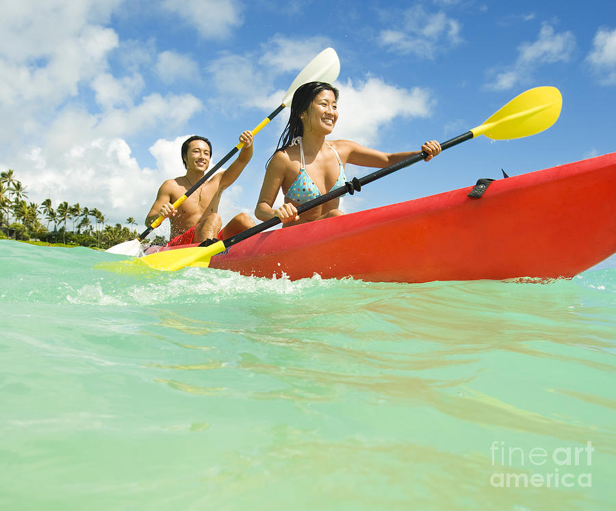 Active Photograph - Japanese Couple Kayaking by Dana Edmunds - Printscapes