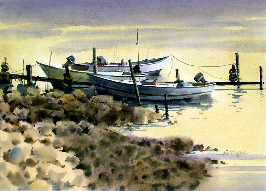 Japanese fishing boats painting by ken duffin for Japanese fishing boat