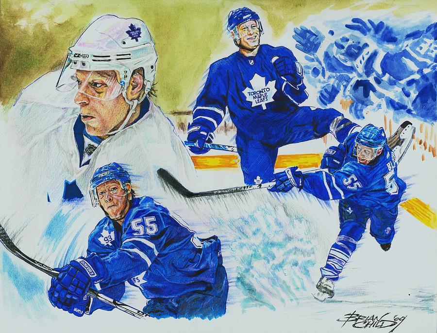 Hockey Mixed Media - Jason Blake by Brian Child