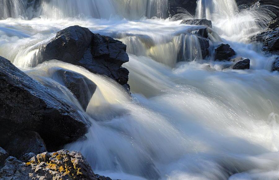 Boundary Waters Canoe Area Wilderness Photograph - Jasper Falls Closeup by Larry Ricker