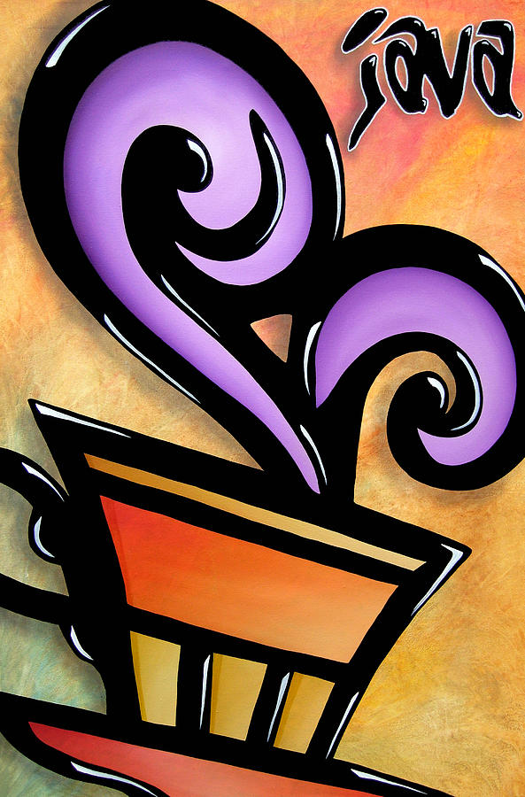 Pop Art Painting - Java By Thomas Fedro by Tom Fedro - Fidostudio