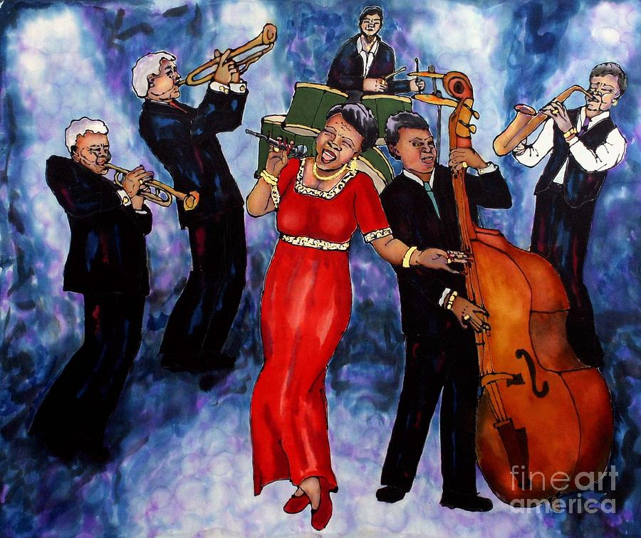 Jazz Painting - Jazz Band by Linda Marcille