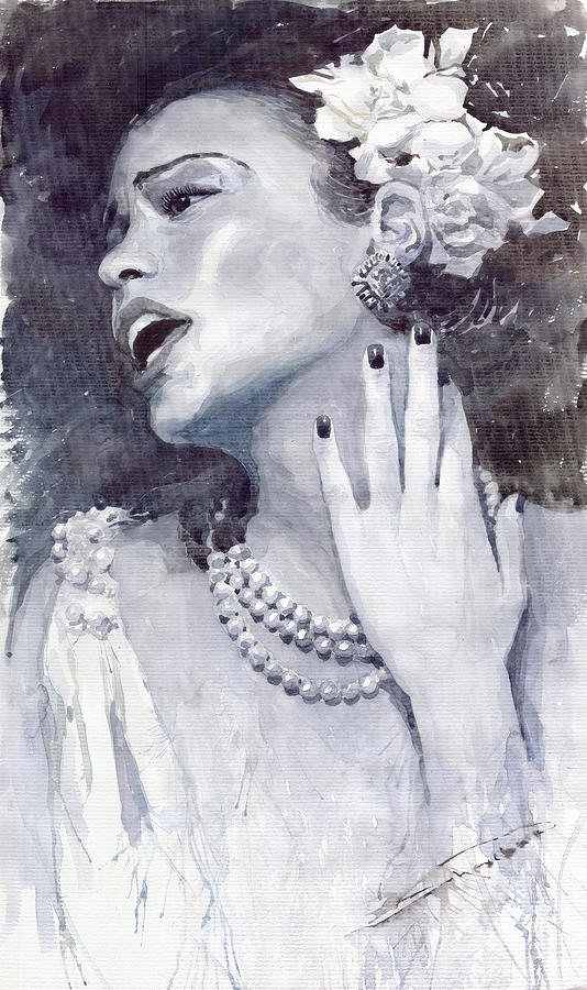 Billie Holiday Painting - Jazz Billie Holiday by Yuriy  Shevchuk