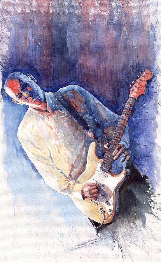 Jazz Guitarist Rene Trossman Painting