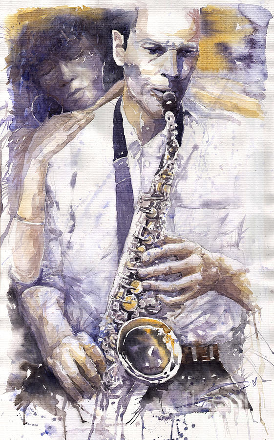 Jazz Muza Saxophon Painting