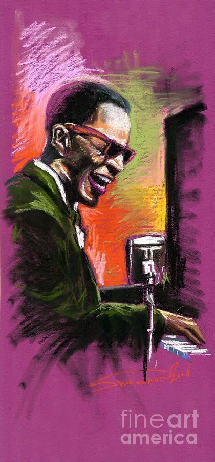 Painting - Jazz. Ray Charles.2. by Yuriy  Shevchuk
