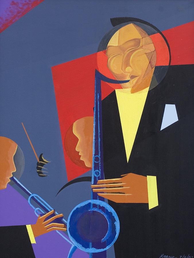 In A Groove Painting - Jazz Sharp by Kaaria Mucherera