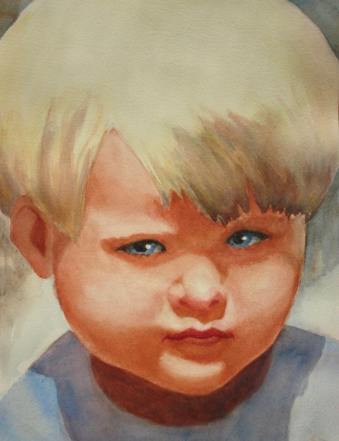 Child Painting - Jean by Marilyn Jacobson