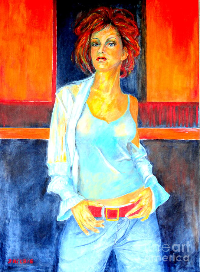 Oilpainting Painting - Jeans by Dagmar Helbig