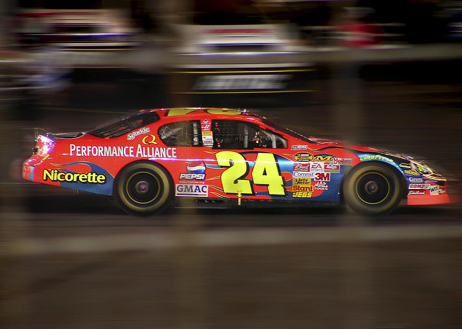 Jeff Gordon Photograph - Jeff Gordons Cup Car  by Kenneth Krolikowski