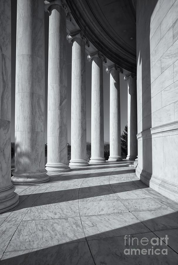 Jefferson Memorial Columns And Shadows Photograph