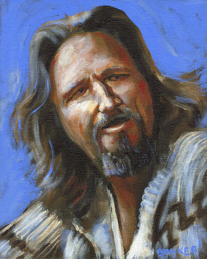The Dude Painting - Jeffrey Lebowski - The Dude by Buffalo Bonker