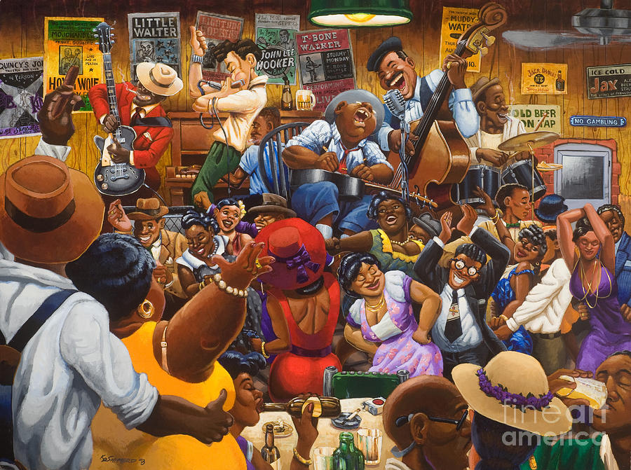 Juke Joint Painting - Jellys Last Jam by Keith Shepherd