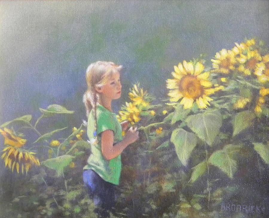Children Painting - Jenny by J M Brodrick