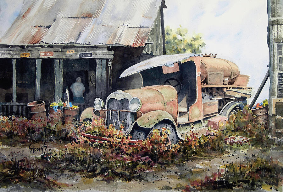 Truck Painting - Jeromes Tank Truck by Sam Sidders