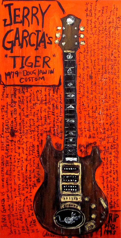 Jerry Garcia Tiger Painting