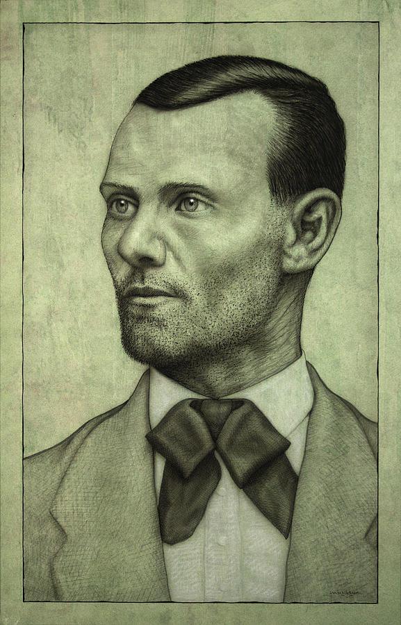 Jesse James Painting - Jesse James by James W Johnson