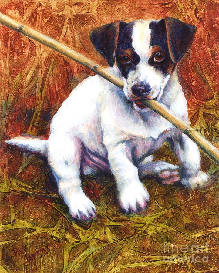Dog Painting - Jesse James by Pat Burns