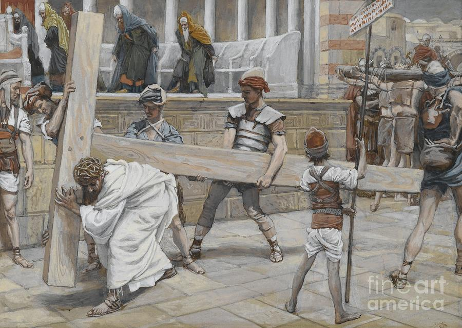 Tissot Painting - Jesus Bearing The Cross by Tissot