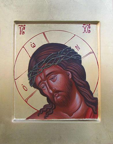 Byzantine Art Painting - Jesus Christ by Biljana Vujaklija