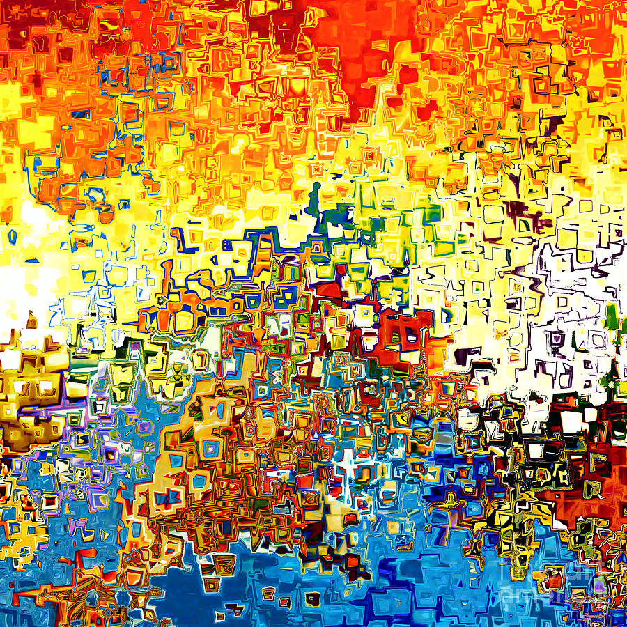 Abstract Painting - Jesus Christ The Elect Of God by Mark Lawrence