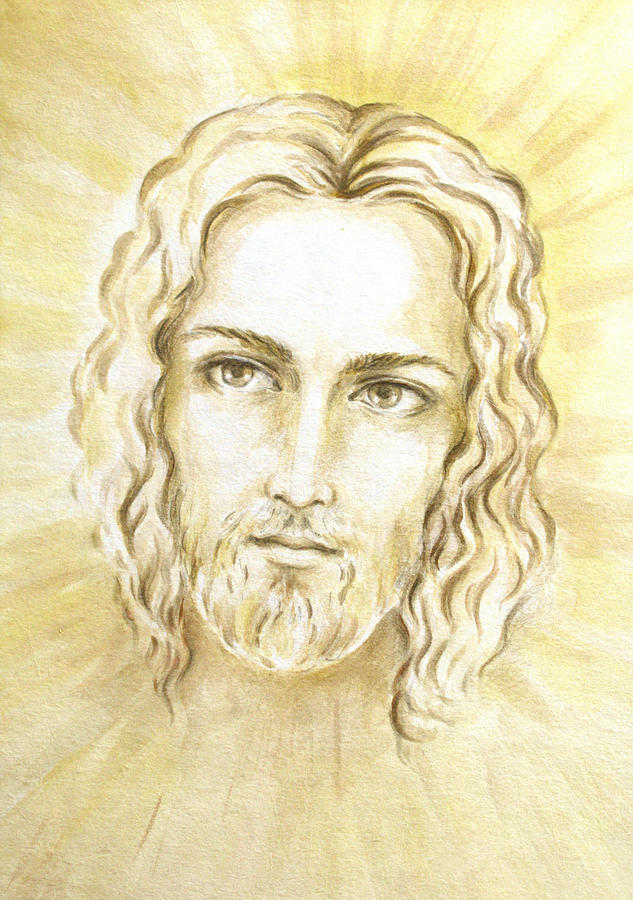 Jesus Light Portrait Painting - Jesus In Light by Stoyanka Ivanova