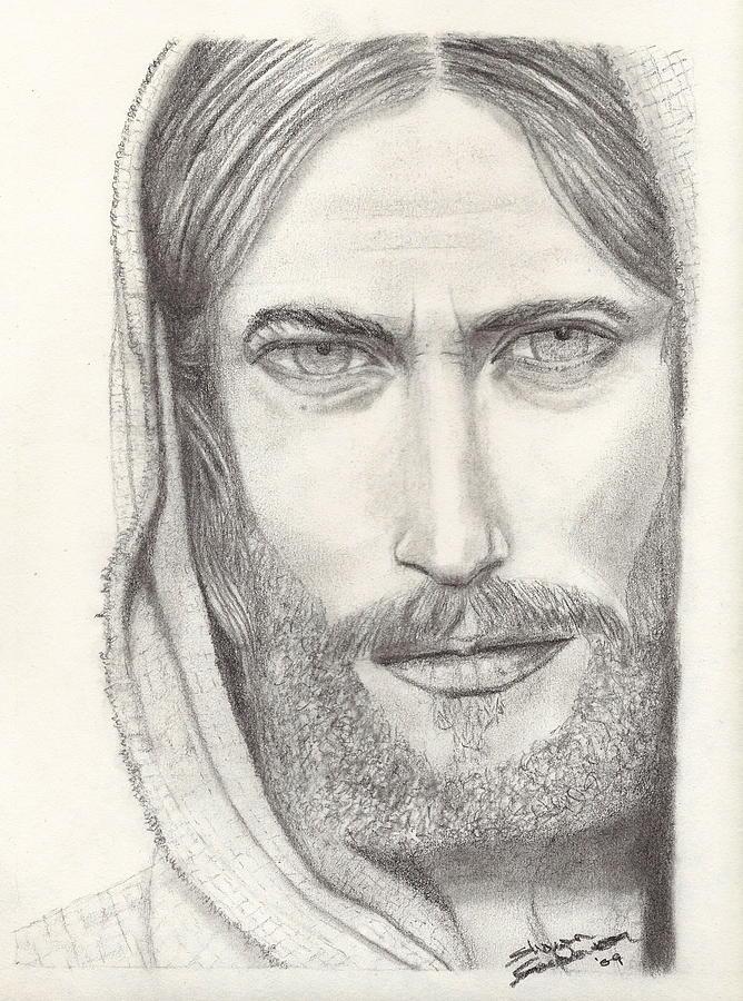 Jesus Drawing - Jesus Of Nazareth by Shawn Sanderson